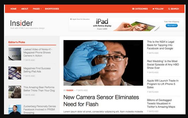 Insider WordPress theme