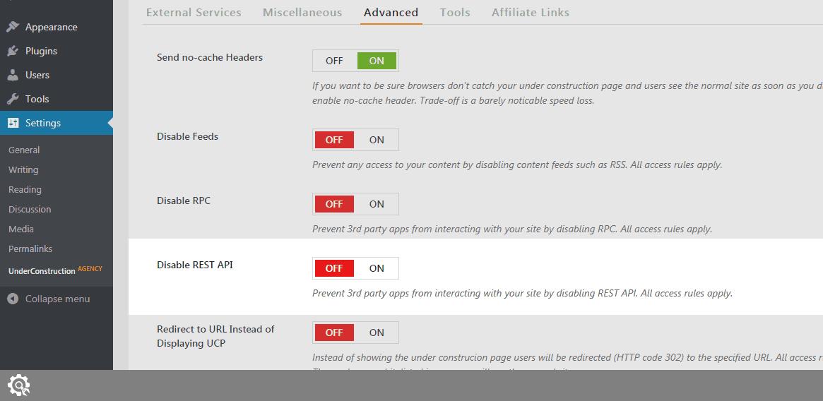 Disable REST API