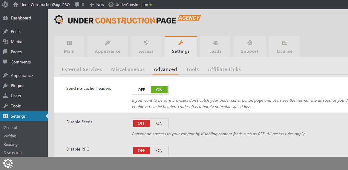 Send no-cache Headers