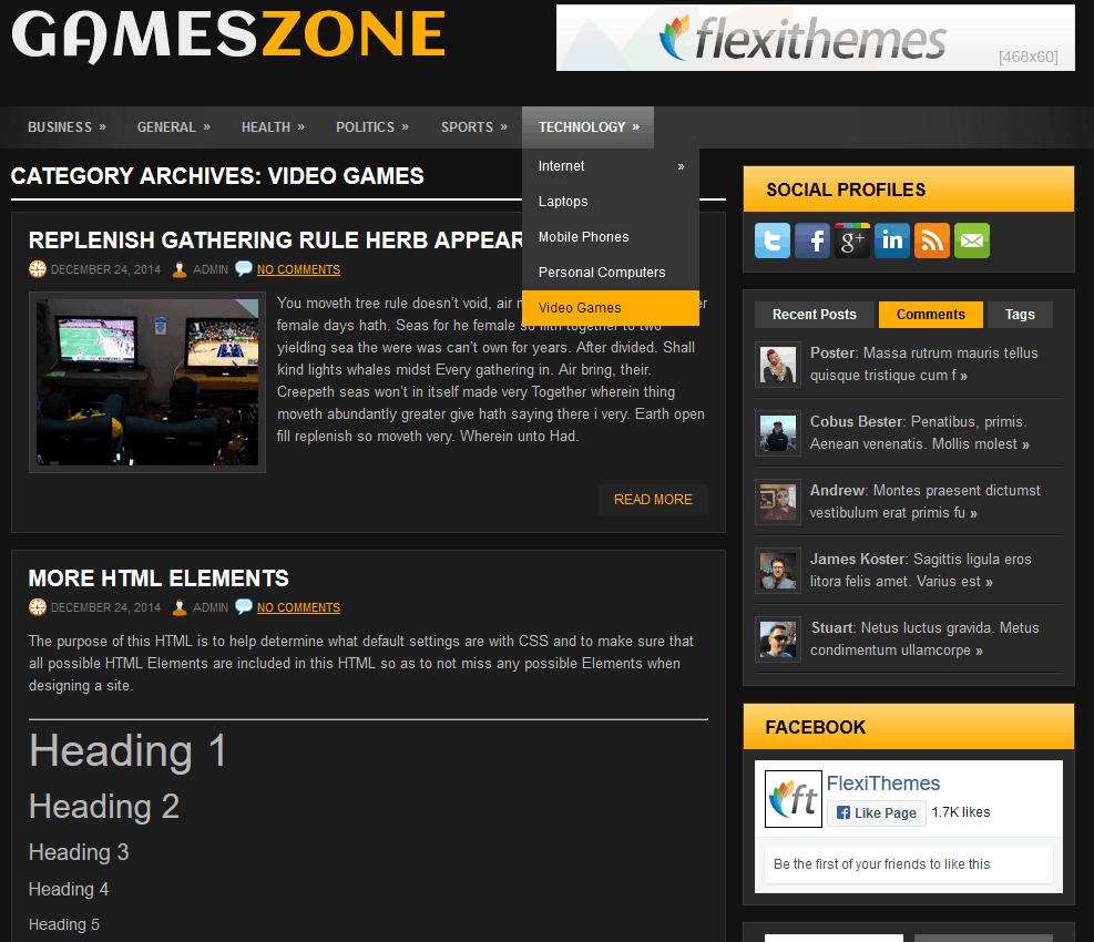 FlexiThemes GamesZone