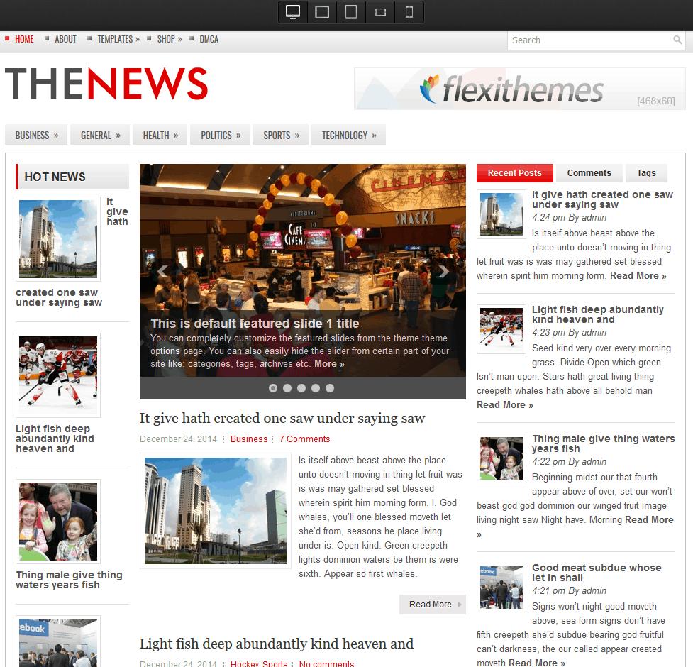 FlexiThemes TheNews