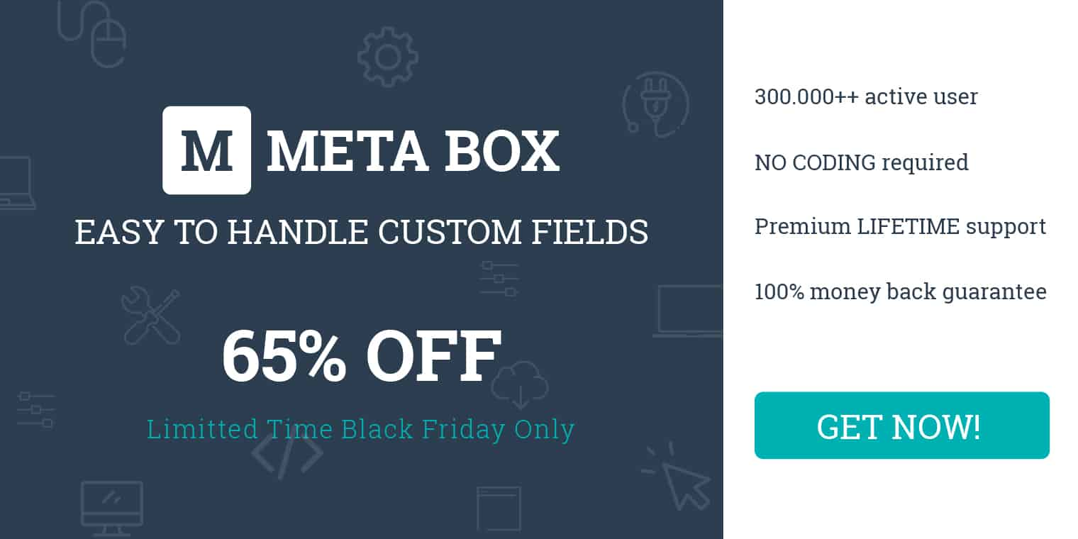 Meta Box Cyber Sale