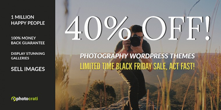 Photocrati Black Friday & Cyber Monday