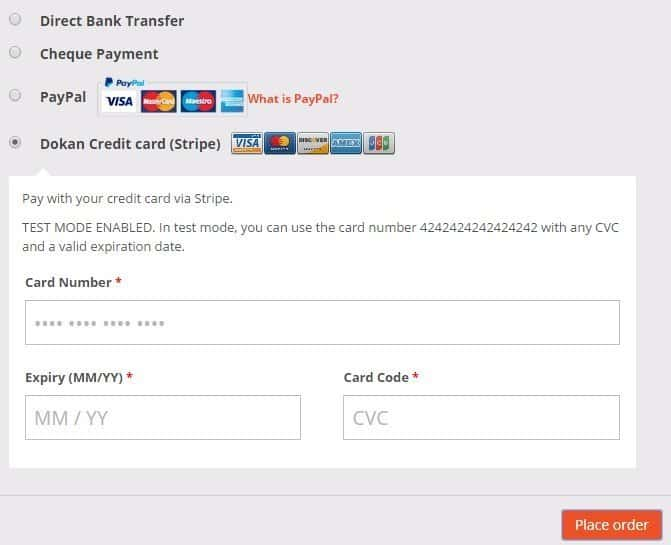 Give as many payment options as you can