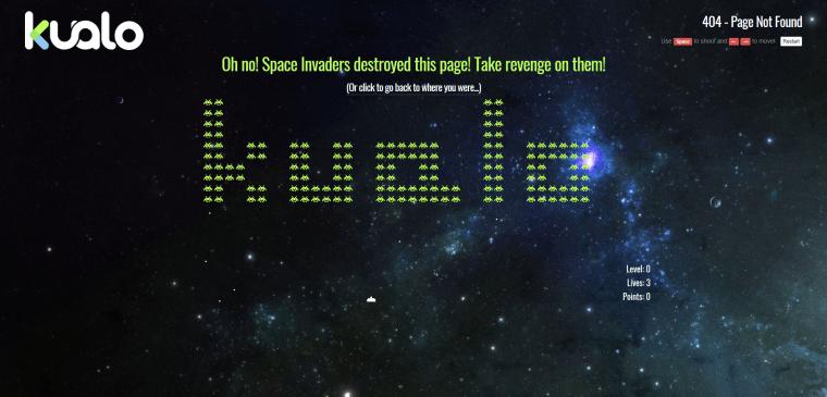 Kualo interactive 404 page