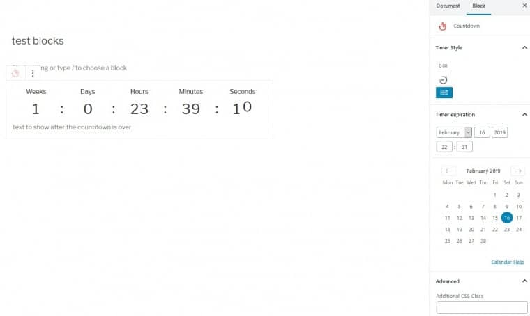 Using a countdown timer, everyone get more excited