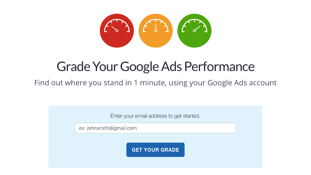 Grade Your Google Ads Performance
