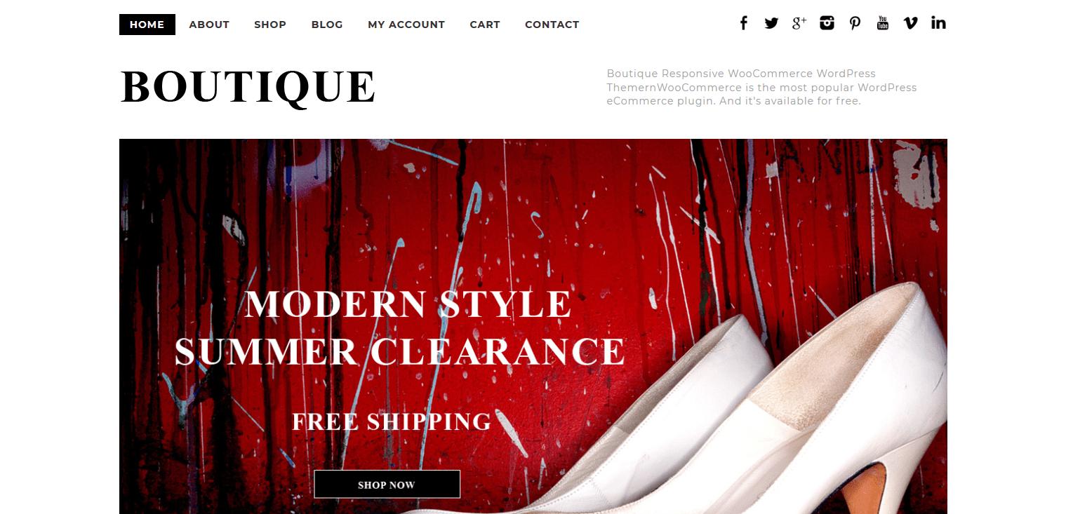 Boutique Responsive WooCommerce WordPress Theme