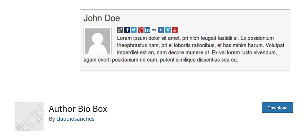Author Bio Box