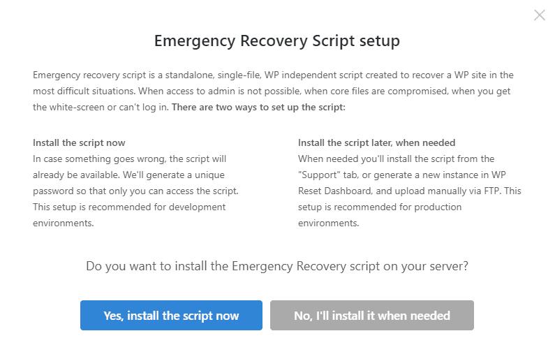 Emergency Script