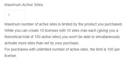Maximum Sites