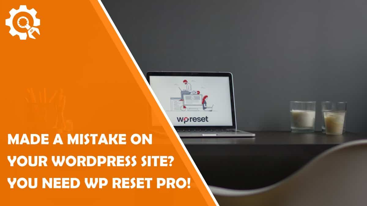 Read Everyone Makes Mistakes – That's When WP Reset PRO Saves The Day
