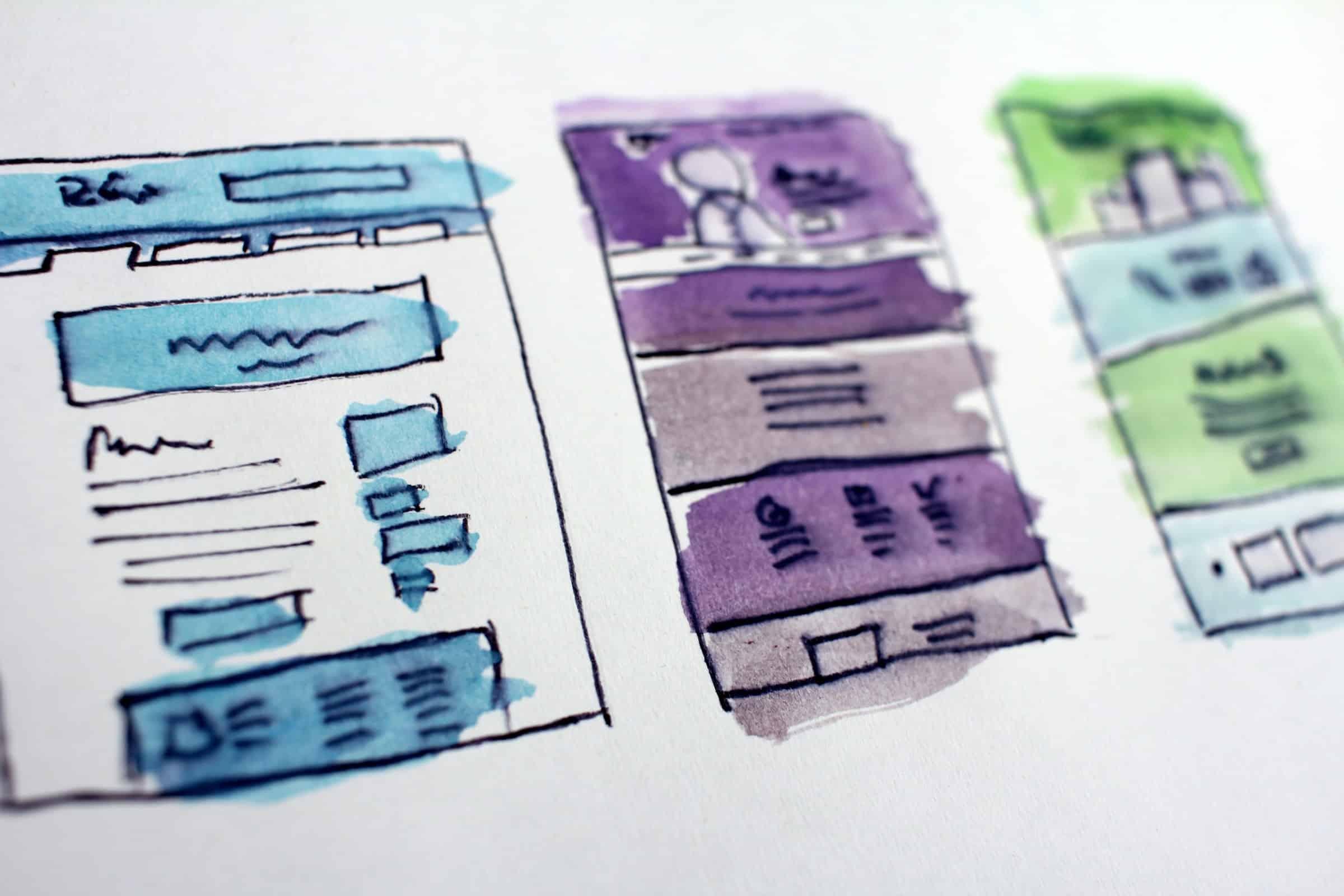Web design prototypes