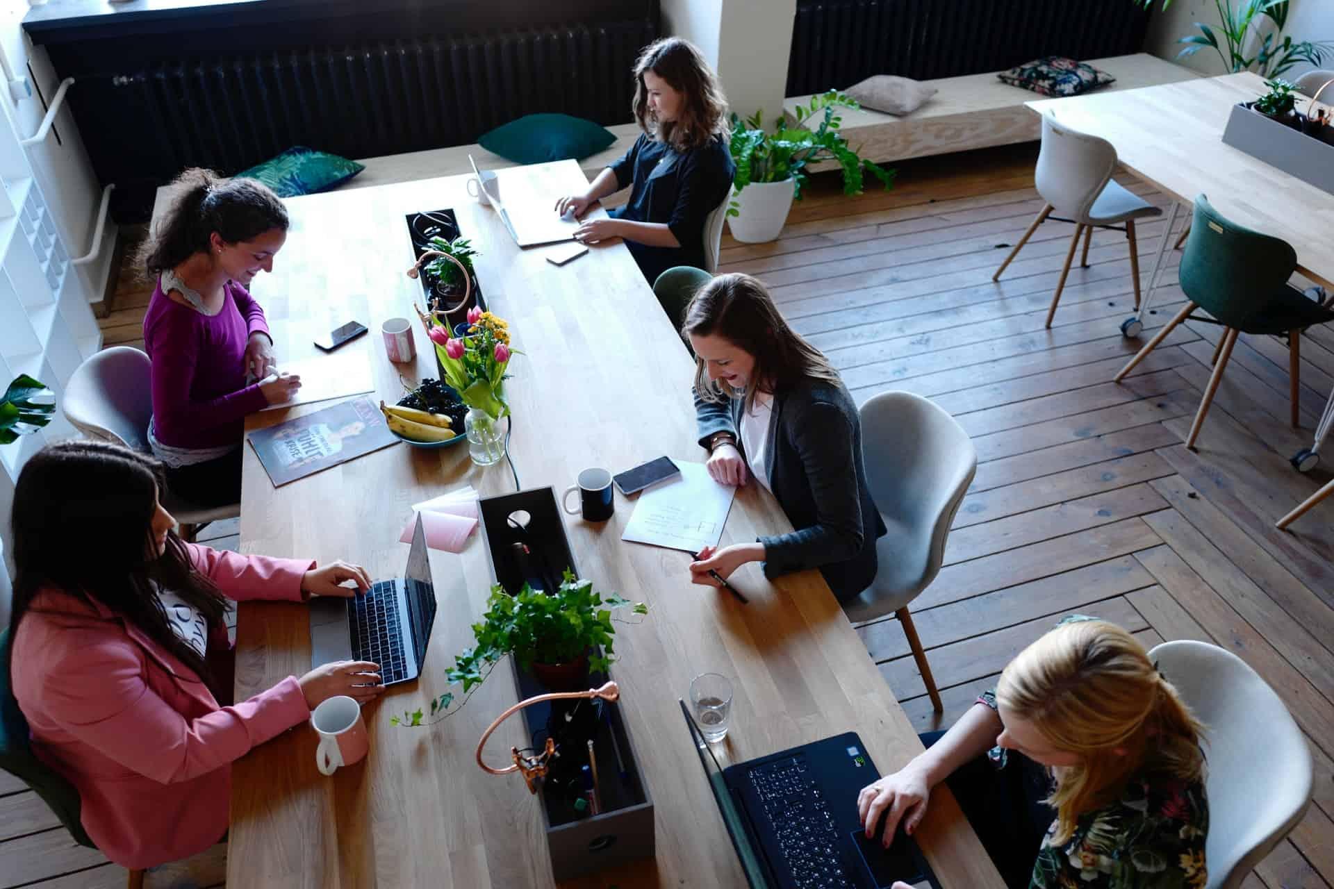 Women having meeting