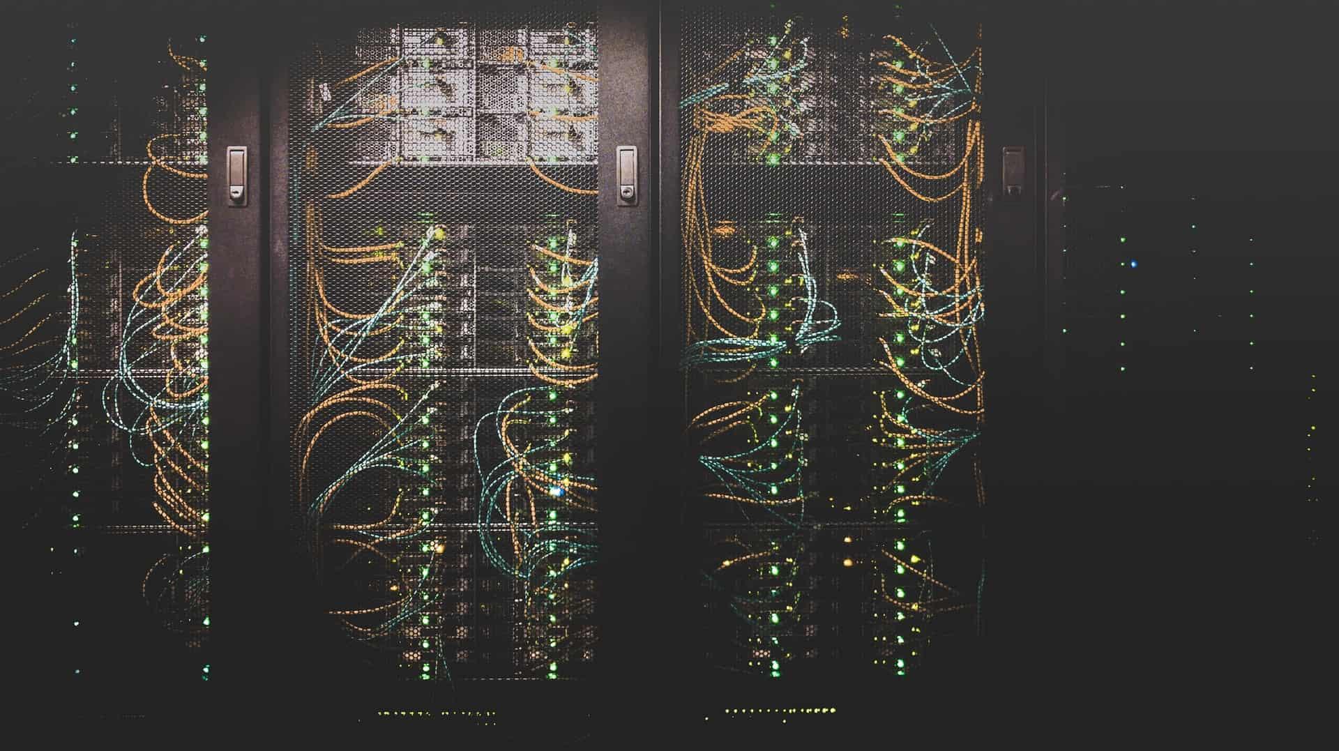 Dark server room