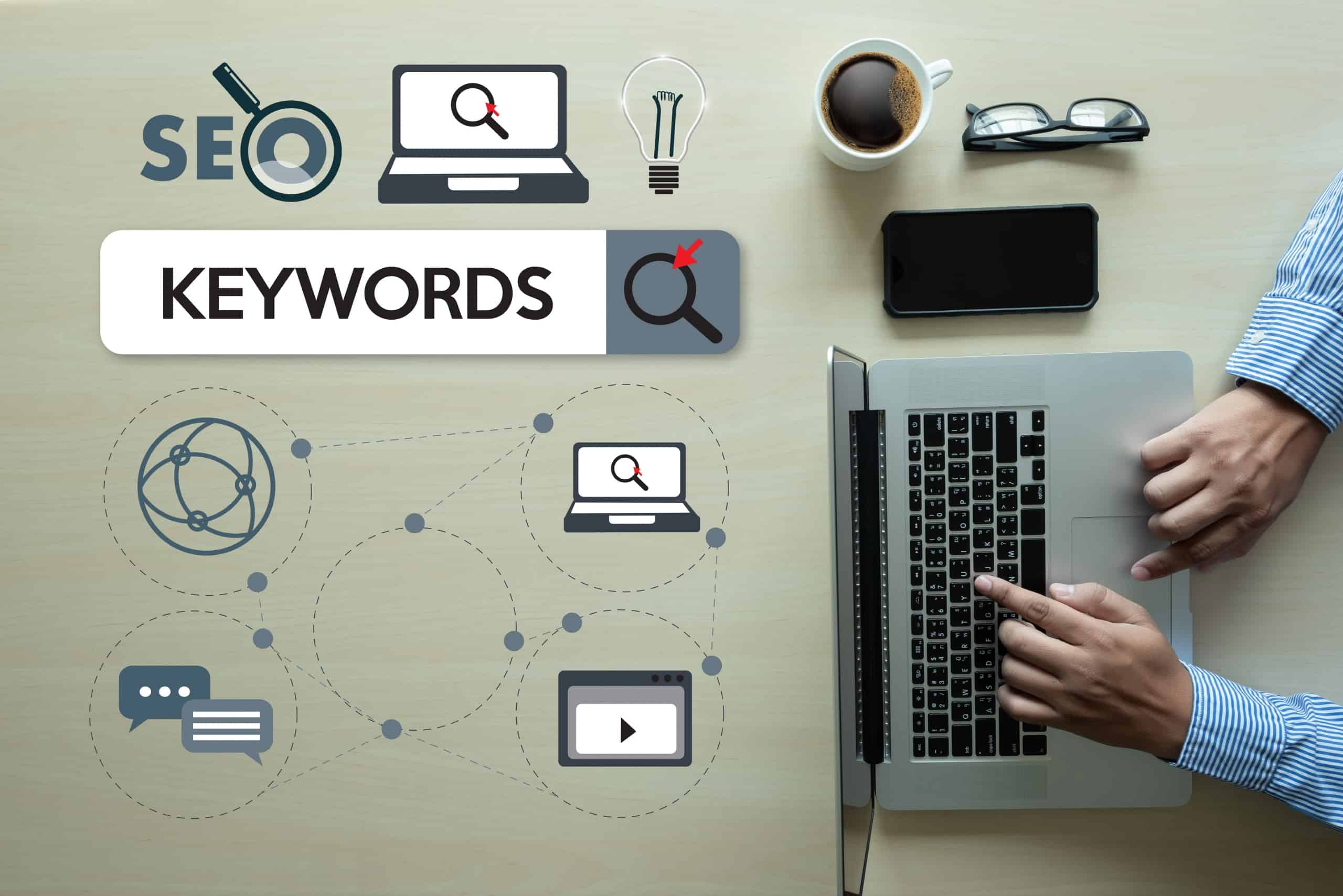 Keywords Research illustration