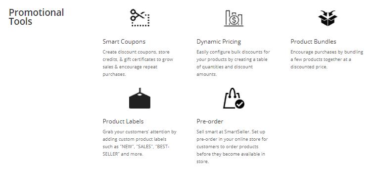 SmartSeller promotional tools