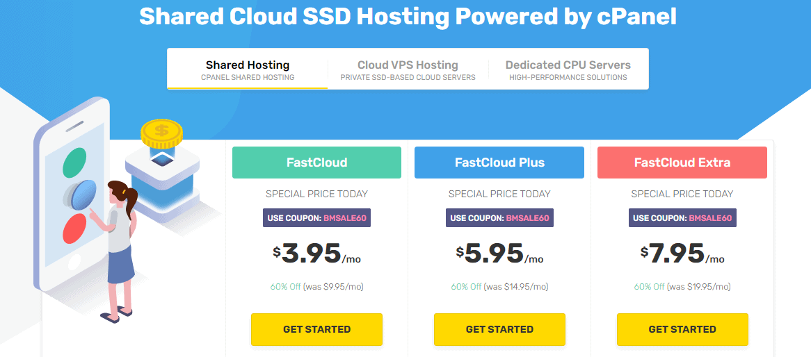 FastComet shared hosting plans