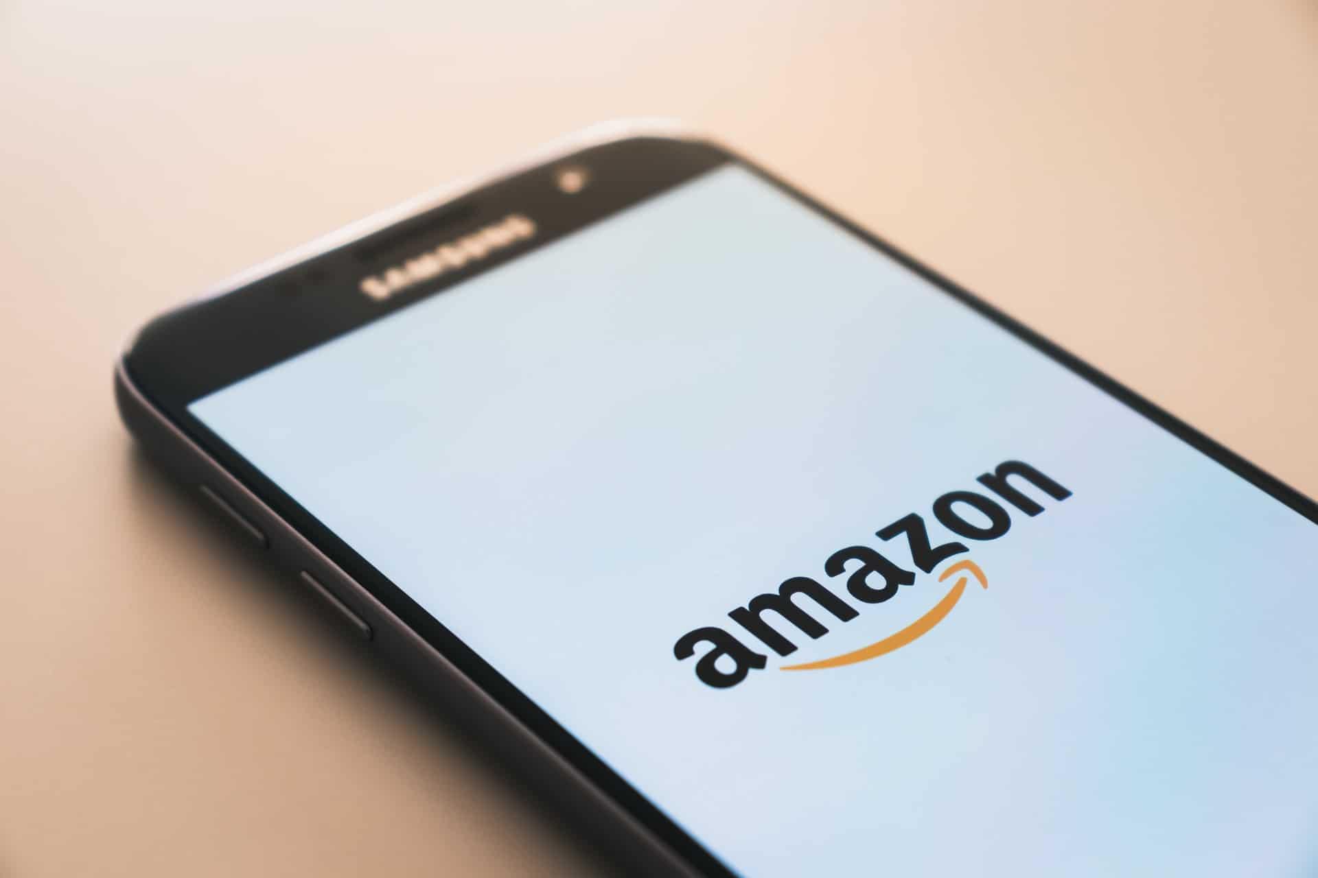 Amazon logo on phone