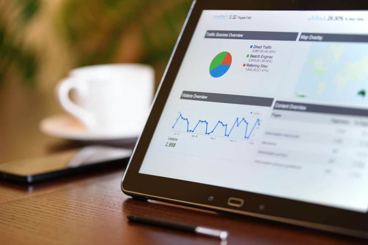 SEO report on tablet