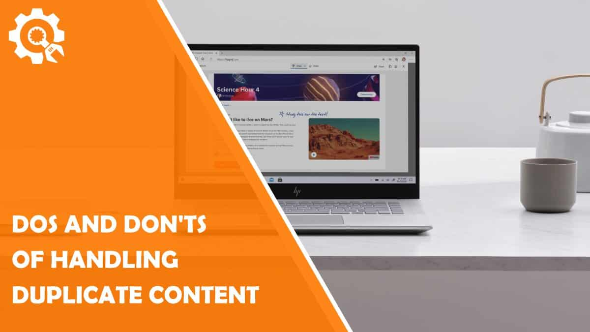 Read Dos and Don'ts of Handling Duplicate Content