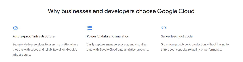 Google Cloud Platform benefits