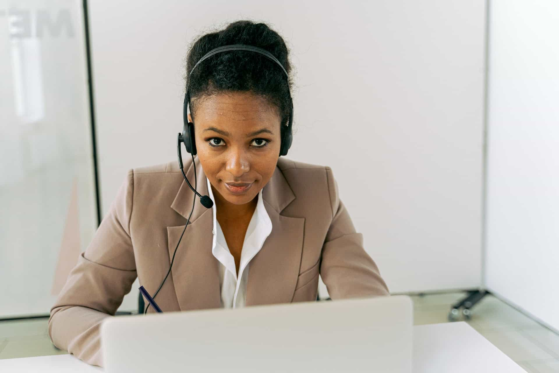 Female customer service agent in office