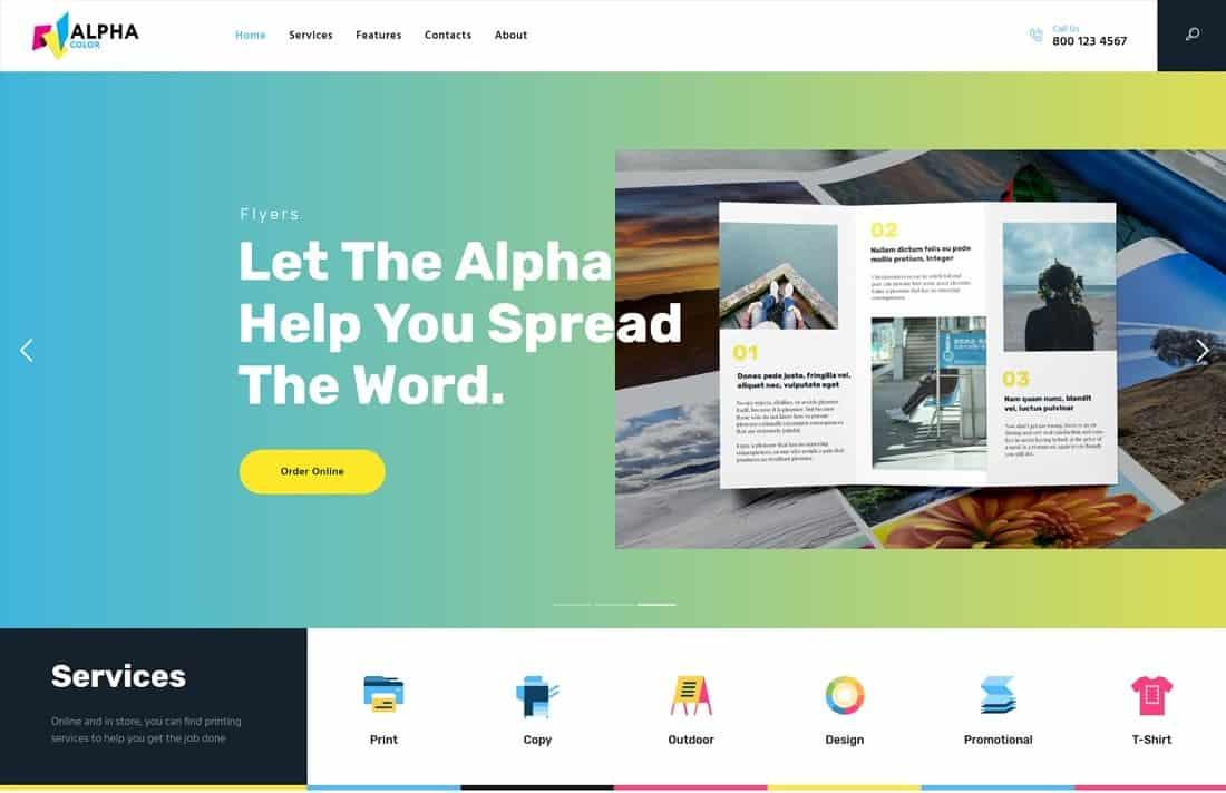 AlphaColor   Type Design & Printing Services WordPress Theme + Elementor