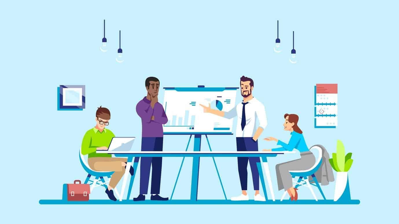 Illustration of digital marketing