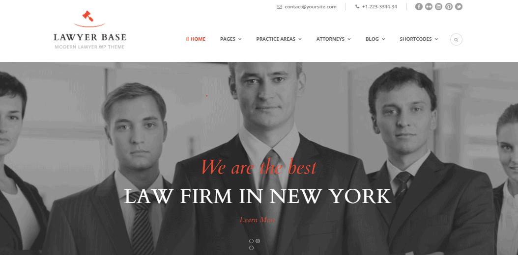Lawyer Base theme