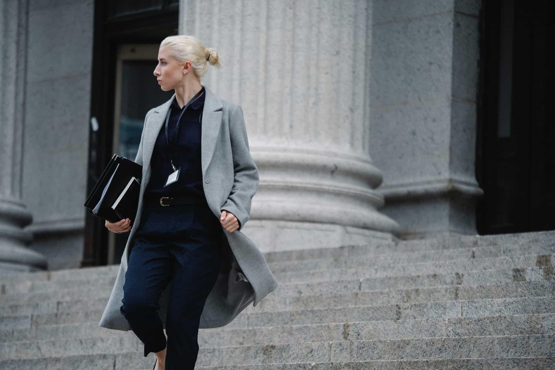Lawyer walking