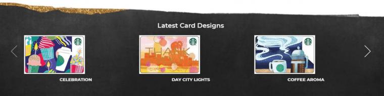 Starbucks cards designs