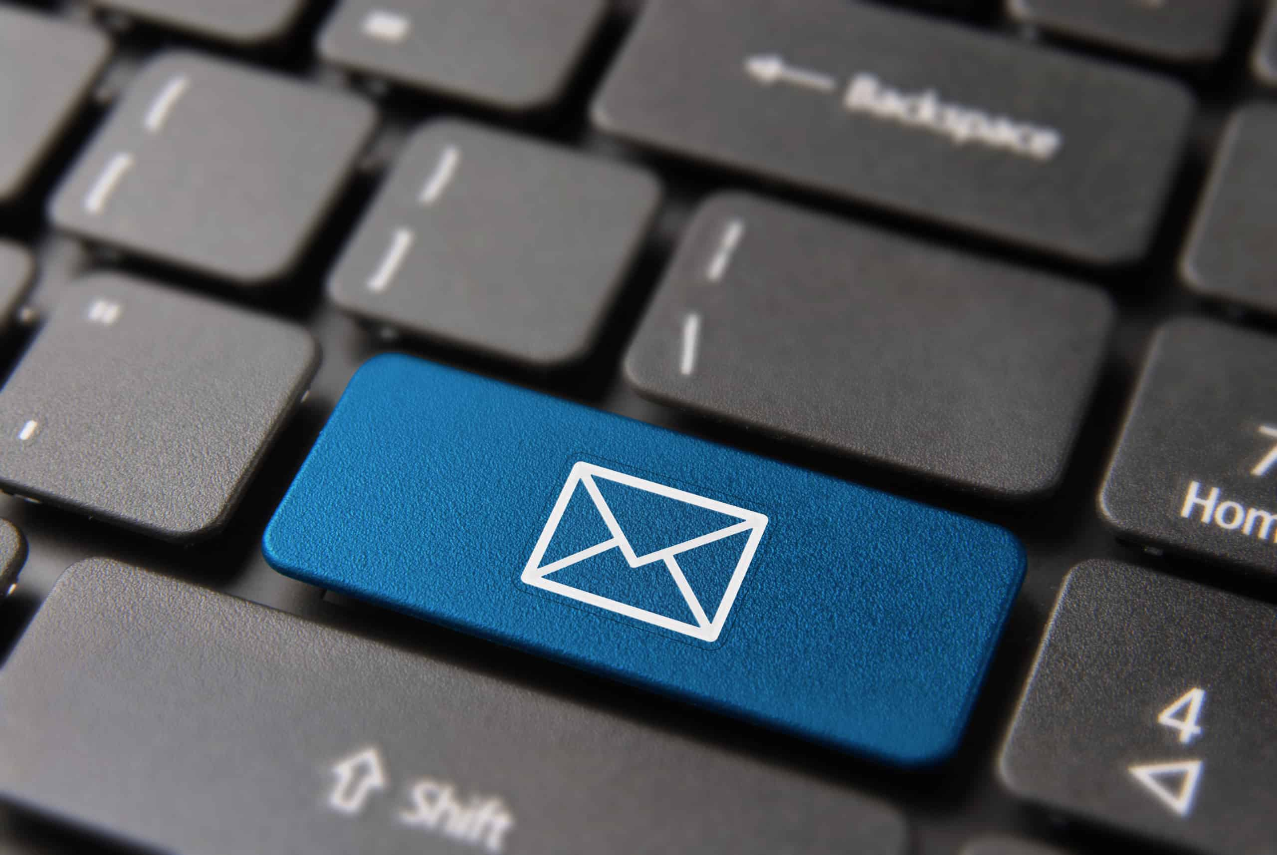 Email keyboard key