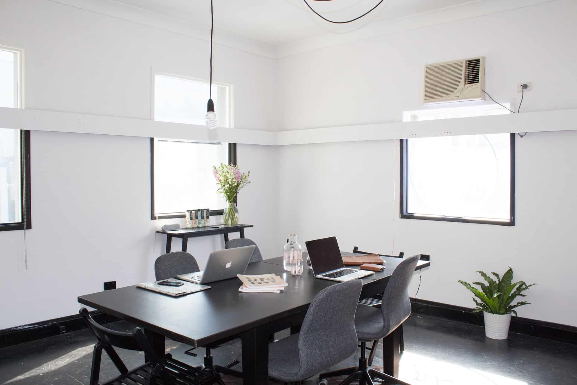 Empty small office