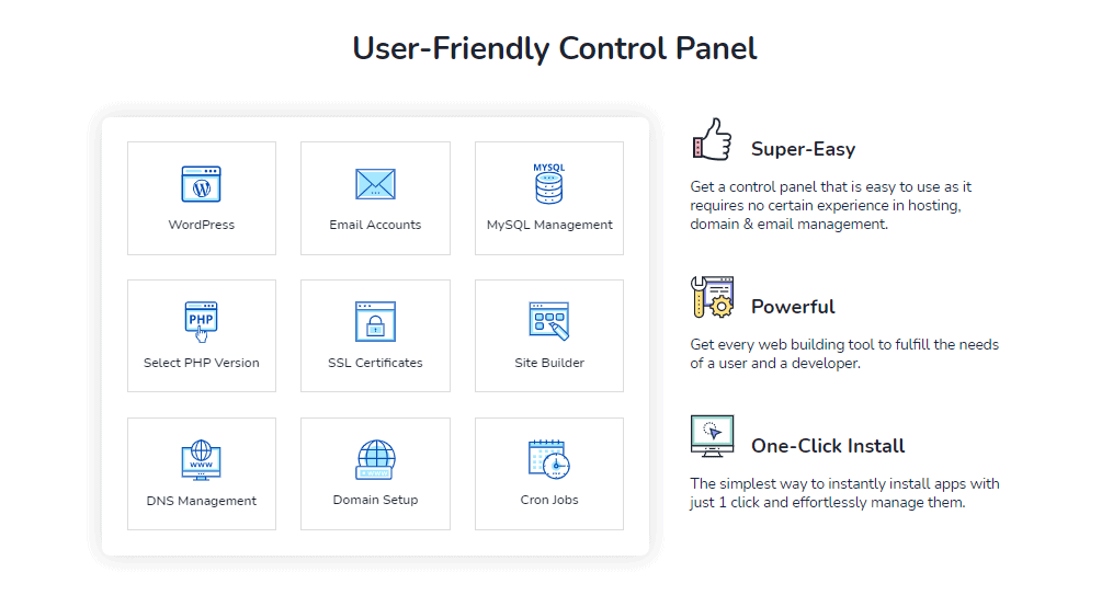 MilesWeb control panel