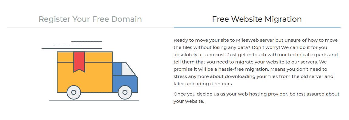 MilesWeb free site migration