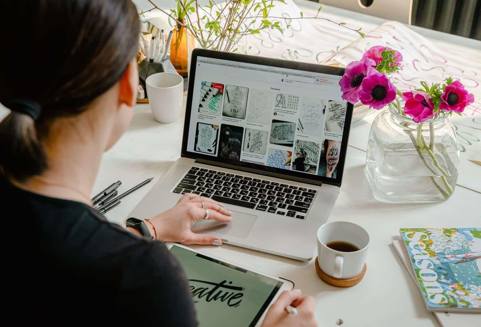 Designer working at home