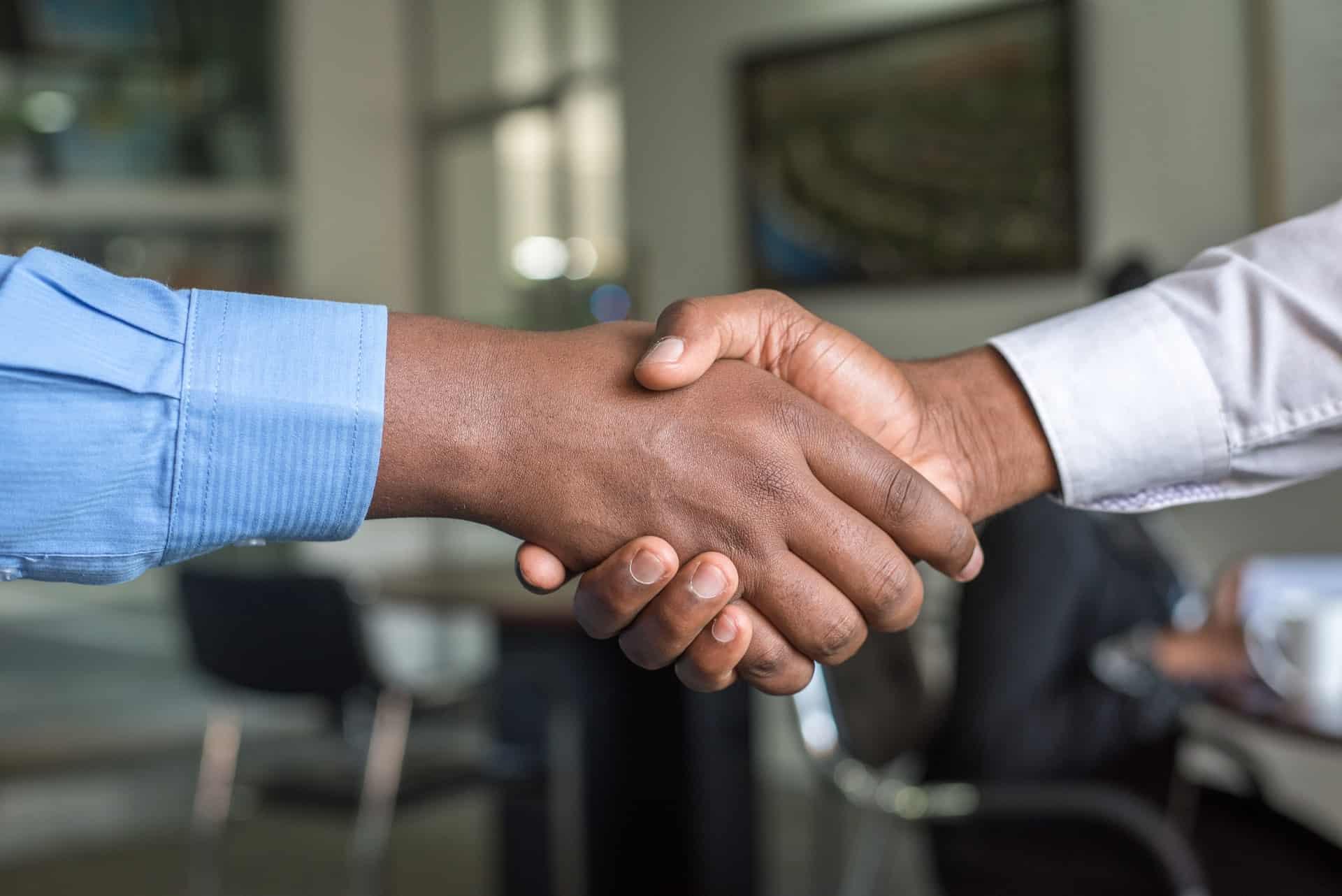 People doing a handshake